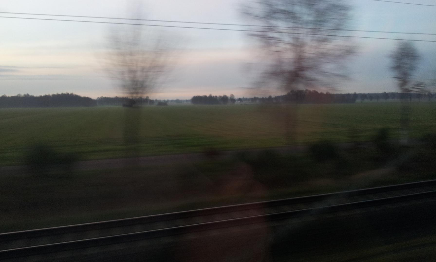 Vorbeifliegende Landschaften