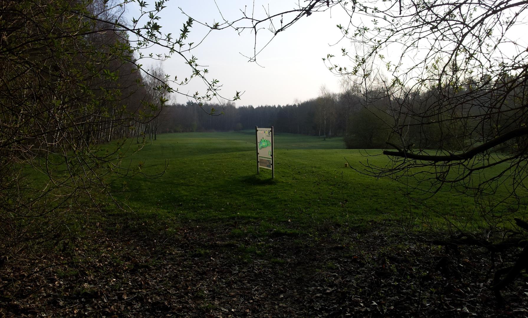 Über den Golfplatz